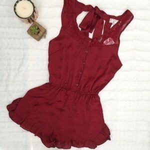 Band of Gypsies Satin Romper Sz Large